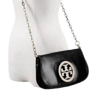Tory Burch Reva black large logo purse